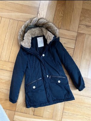 Schwarzer Winter Parka Zara XS