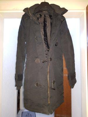 schwarzer Wintermantel, ONLY, Größe 36