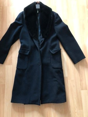 United Colors of Benetton Wool Coat black