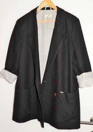 Aigner Blazer de lana negro-blanco Lana