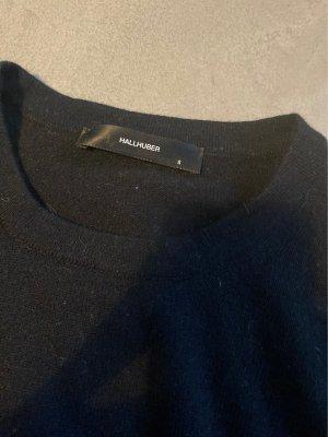 Hallhuber Wełniany sweter czarny