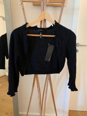 Schwarzer Wollbolero, Marke Zero, Größe 40