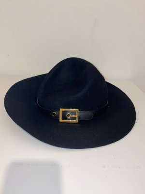 Gucci Chapeau à larges bords noir laine