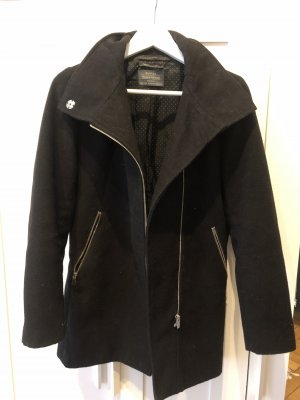 Bershka Wool Coat black
