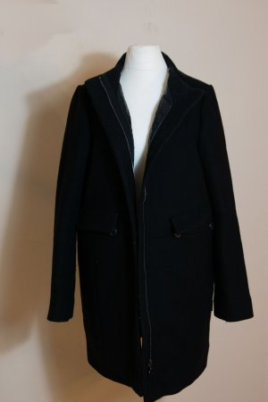 Moncler Krótki płaszcz czarny Wełna