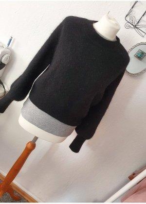 H&M Wełniany sweter czarny Wełna z alpaki