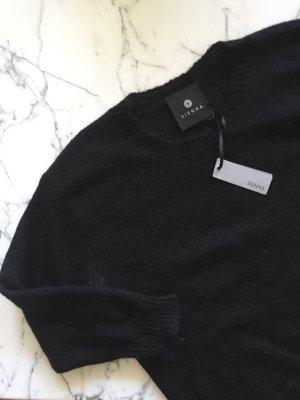 Schwarzer Wollpullover Strickpulli NEU mit Etikett