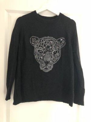 Schwarzer Wollpulover von Zara - neuwertig