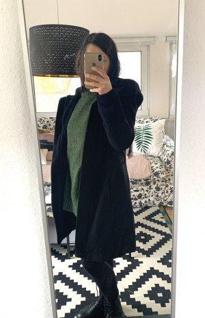 Schwarzer Zara Mantel Trenchcoat mit Oversize Kaputze