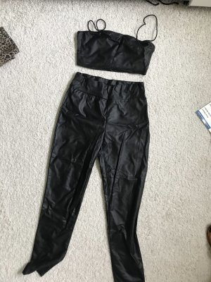SheIn Leather Trousers black