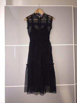Schwarzes Abendkleid mit Spitze in 36