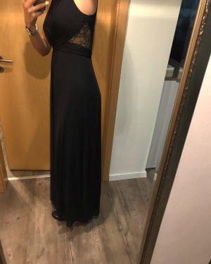 Schwarzes Abendkleid mit Spitzendetails von Zero