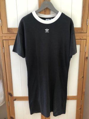 Adidas Originals Vestido de tela de jersey negro-blanco