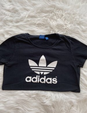 Schwarzes Adidas T-Shirt mit Logo