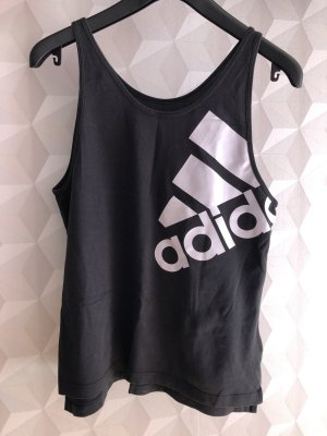 Adidas Tanktop zwart-wit Katoen