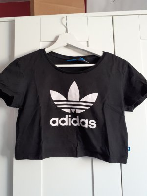 Adidas Camisa recortada negro