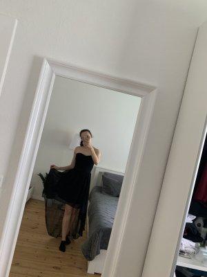Amisu Vestido mullet negro
