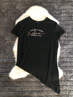 Schwarzes Asymetrisches Shirt