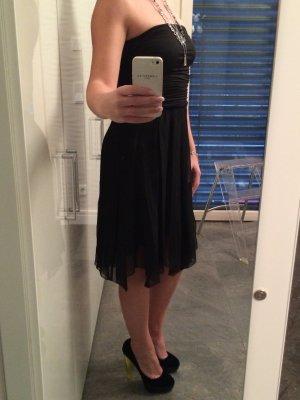 Schwarzes Bandeau Cocktail Kleid