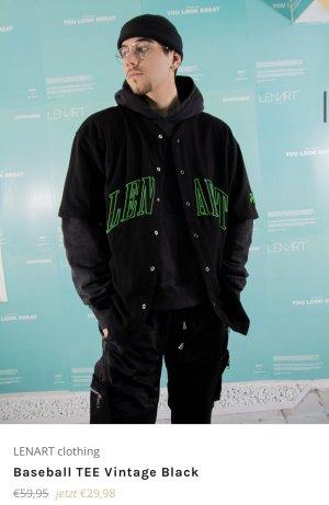 Twoblond Koszulka oversize czarny-zielony