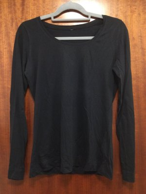 Schwarzes basic Langarmshirt, Takko Fashion, Gr. M