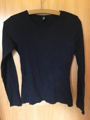 Schwarzes Basic Shirt Madonna
