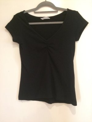 Schwarzes basic T-Shirt, Clockhouse, Gr. M