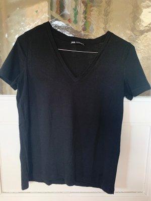 Schwarzes Basicshirt Zara