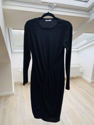 Schwarzes Baumwollkleid Zara