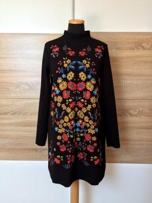 Schwarzes Blumen Kleid von Zara, Gr. M (NEUw.)