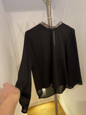 Zara Basic Blouse transparente noir