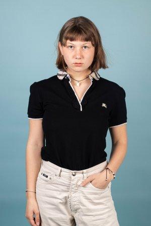Burberry Top koszulowy czarny Bawełna