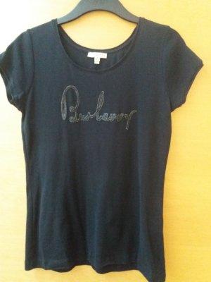 Burberry T-shirt czarny Bawełna