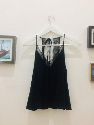 Schwarzes Camisole mit Spitze
