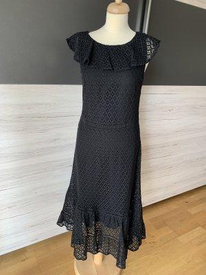Schwarzes Carmen-Sommerkleid Spitze 40