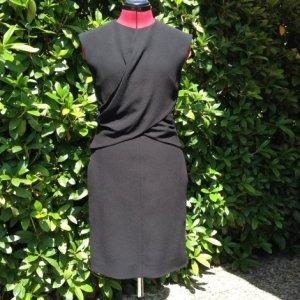 Schwarzes Céline Paris Kleid aus Wollstoff