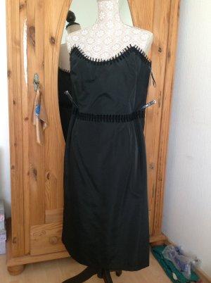 Swing Sukienka z gorsetem czarny Poliester