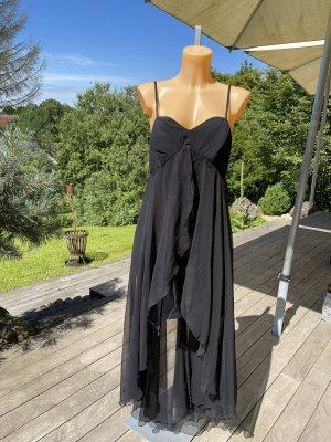 Robe bas asymétrique noir viscose
