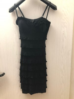 Schwarzes cocktailkleid mit Rüschen von Guess