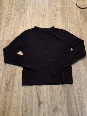 Schwarzes Cropped-Shirt von Zara