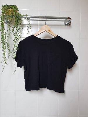 H&M Crop-top noir coton