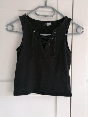 H&M Crop-top noir