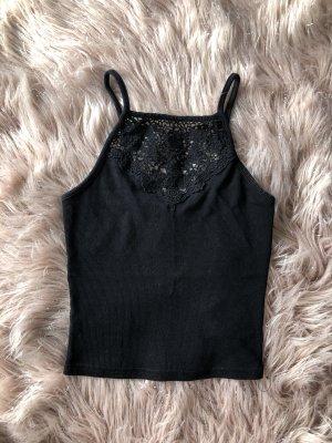 New Look Cropped top zwart