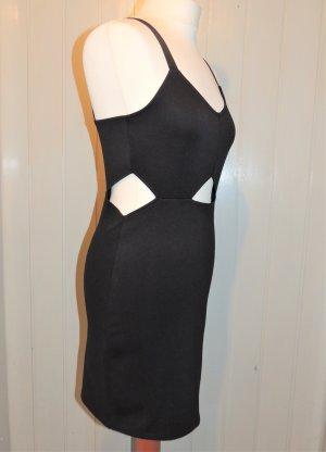 H&M Divided Vestido cut out negro Poliéster