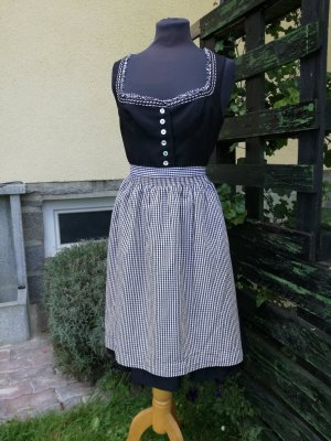 Schwarzes Dirndl von Thalbauer, Gr. 42, Trachtenkleid, Kleid mit Schürze
