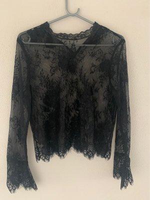H&M Divided Siateczkowa koszulka czarny