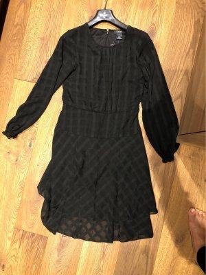 DKNY Vestido de chifón negro Poliéster