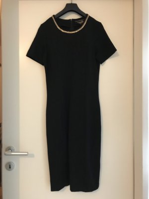 Schwarzes elegantes Kleid mit gold Aplikation