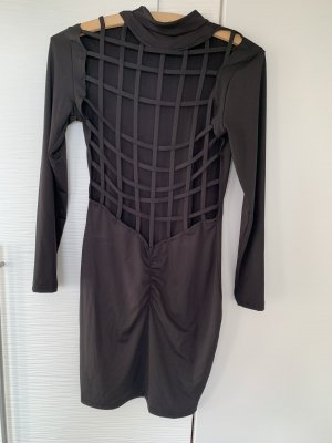 Vestido cut out negro