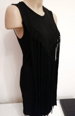 schwarzes Festival Kleid mit Fransen von Lira Größe S